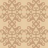 Seamless eastern beige ornamental wallpaper Royalty Free Stock Image