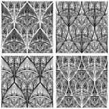 Seamless eastern floral patterns Royalty Free Stock Image