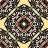 Seamless, eastern pattern of mandalas. Stylized template for wallpaper, textile, carpet, embroidery Stock Photos