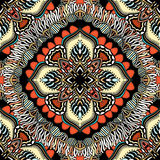 Seamless, eastern pattern of mandalas. Stylized template for wallpaper, textile, carpet, embroidery Stock Image