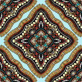 Seamless, eastern pattern of mandalas. Stylized template for wallpaper, textile, carpet, embroidery Royalty Free Stock Images