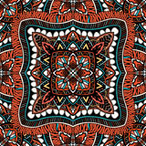 Seamless, eastern pattern of mandalas. Stylized template for wallpaper, textile, carpet, embroidery Stock Photography