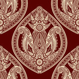 Seamless eastern style paisley Royalty Free Stock Images