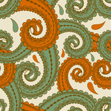 Seamless eastern style paisley Stock Photography