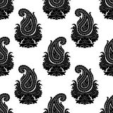 Seamless Eastern Style Pattern. Paisley Ornament Stock Image