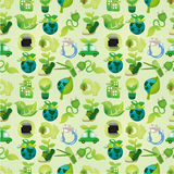 Seamless eco icon pattern. Drawing Stock Image