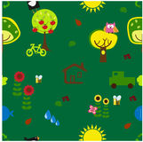 Seamless eco pattern Royalty Free Stock Photos