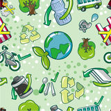 Seamless eco pattern. Vector drawing Stock Images