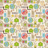Seamless eco pattern Stock Photo