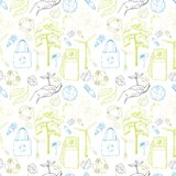 Seamless ecology and environment pattern Stock Photography