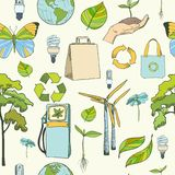 Seamless ecology and environment pattern Royalty Free Stock Photo