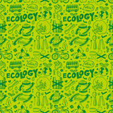 Seamless ecology pattern Stock Images