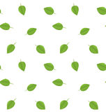 Seamless Ecology Pattern with Green Leaves Royalty Free Stock Photography