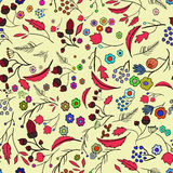 Seamless ecology pattern with leaves. Vector 4 royalty free illustration