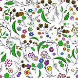 Seamless ecology pattern with leaves. Vector 1 Stock Photography