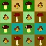 Seamless  edible mushrooms Stock Photography