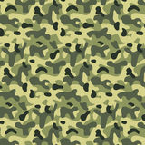 Seamless editable military pattern with camouflage Stock Photo