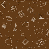 Seamless education pattern Royalty Free Stock Photography