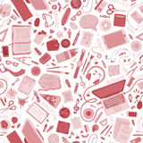 Seamless education pattern. Stock Images