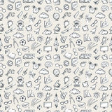 Seamless education pattern stock illustration