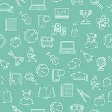 Seamless education and science background Stock Images