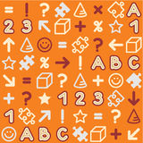 Seamless educational (back to school) pattern Royalty Free Stock Image