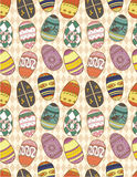 Seamless Eggs pattern Royalty Free Stock Image