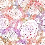 Seamless elegance Roses Pattern. Vector, EPS 10 Stock Photo