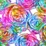 Seamless elegance Roses Pattern. Vector, EPS 10 Stock Photo