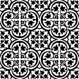 Seamless elegant floral pattern with black tracery Royalty Free Stock Photography
