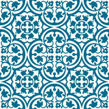 Seamless elegant floral pattern with blue tracery  Royalty Free Stock Image