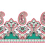 Seamless and elegant paisley vector Indian motif. Seamless and elegant paisley Indian elements on a white background, gorgeous vector ethnic patterns vector illustration