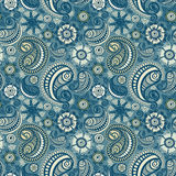 Seamless elegant paisley pattern. Model for design of gift packs, patterns fabric, wallpaper, web sites, etc Royalty Free Stock Images