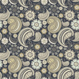 Seamless elegant paisley pattern stock illustration