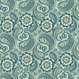 Seamless elegant paisley pattern Royalty Free Stock Images