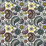 Seamless elegant paisley pattern Stock Images