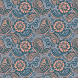 Seamless elegant paisley pattern vector illustration