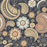 Seamless elegant paisley pattern Royalty Free Stock Photography