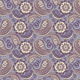 Seamless elegant paisley pattern Stock Photography