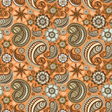 Seamless elegant paisley pattern Royalty Free Stock Photo
