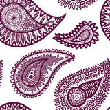 Seamless elegant paisley pattern-model for design of gift packs, Royalty Free Stock Images