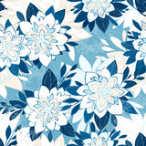 Seamless elegant pattern with decorative flowers. EPS10 vector illustration. Contains transparency Stock Photos