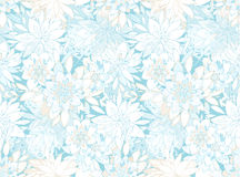 Seamless elegant pattern with decorative flowers. EPS10 vector illustration. Contains transparency Royalty Free Stock Photos