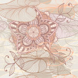 Seamless elegant pattern with water lilys Royalty Free Stock Photography