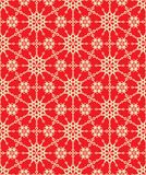 Seamless elegant red and gold holiday pattern royalty free illustration