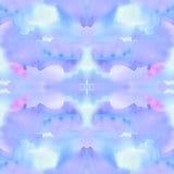 Seamless elegant textured watercolor kaleidoscopic pattern Royalty Free Stock Photo