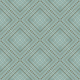Seamless elegant vintage dot line diamond check pattern background. Stock Image
