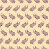 Seamless elephant baby pattern background. Royalty Free Stock Photography