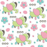 Seamless elephant baby pattern vector illustration Royalty Free Stock Photos