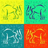 Seamless elephant colored background. Abstract. Royalty Free Stock Photo